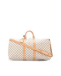 Bolso deportivo de cuero en beige de Louis Vuitton Vintage