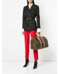 Bolso Deportivo de Cuero Estampado Marrón Oscuro de Louis Vuitton Vintage