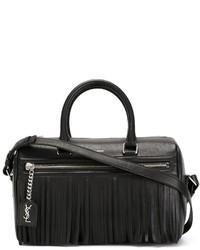 Bolso deportivo de cuero negro de Saint Laurent