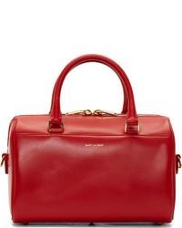 Bolso deportivo de cuero rojo de Saint Laurent