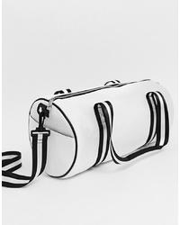 Bolso deportivo de lona en blanco y negro de Yoki Fashion