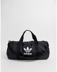 Bolso deportivo de lona negro de adidas Originals