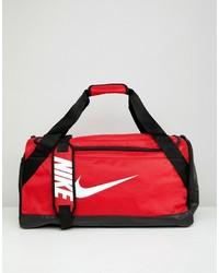 Bolso deportivo de lona rojo de Nike