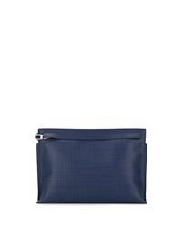 Bolso mensajero de cuero azul marino de Loewe