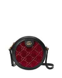 Bolso mensajero de cuero burdeos de Gucci