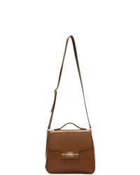Bolso mensajero de cuero marrón de Gucci