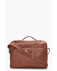 Bolso mensajero de cuero marrón de Maison Martin Margiela
