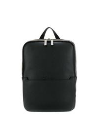 Bolso mensajero de cuero negro de Calvin Klein