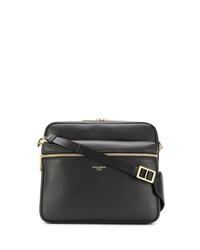 Bolso mensajero de cuero negro de Dolce & Gabbana