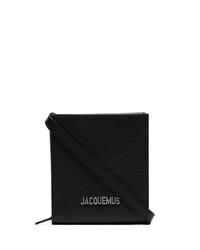 Bolso mensajero de cuero negro de Jacquemus