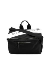 Bolso mensajero de lona estampado negro de Givenchy