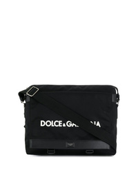 Bolso mensajero de lona negro de Dolce & Gabbana