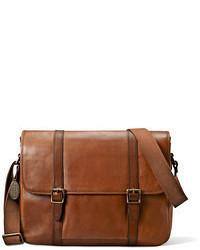 Bolso mensajero marrón