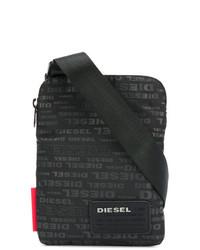 Bolso Mensajero Negro de Diesel