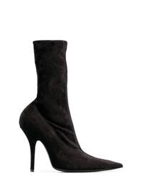Botas a media pierna de ante negras de Balenciaga
