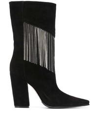 Botas a media pierna de ante negras de Le Silla