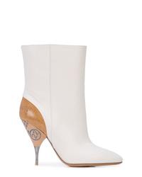 Botas a media pierna de cuero blancas de Maison Margiela