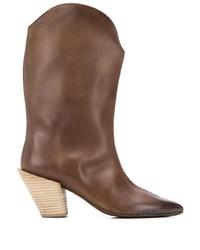 Botas a media pierna de cuero marrónes de Marsèll