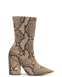 Botas a media pierna de cuero marrónes de Yeezy