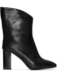 Botas a media pierna de cuero negras de Acne Studios
