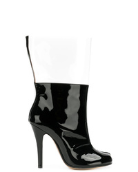 Botas a media pierna de cuero negras de Maison Margiela