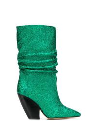 Botas a media pierna de cuero verdes de IRO