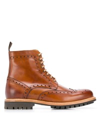 Botas brogue de cuero en tabaco de Berwick Shoes
