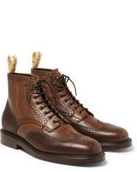 Botas brogue de cuero marrónes de Grenson