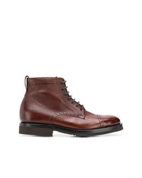 Botas brogue de cuero marrónes de Henderson Baracco