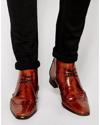 Botas Brogue de Cuero Marrónes de Jeffery West