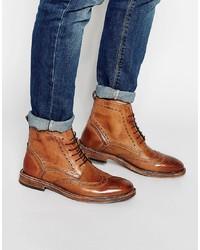 Botas brogue de cuero marrónes de Kg Kurt Geiger