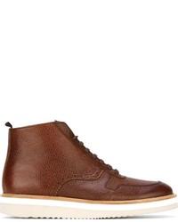 Botas brogue de cuero marrónes de Swear