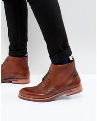Botas brogue de cuero marrónes de Ted Baker