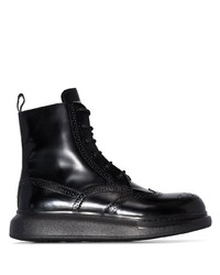 Botas brogue de cuero negras de Alexander McQueen