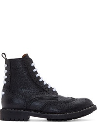Botas brogue de cuero negras de Givenchy