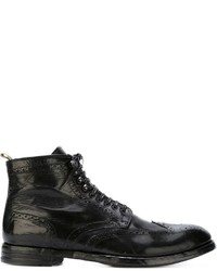 Botas brogue de cuero negras de Officine Creative