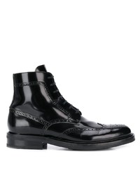Botas brogue de cuero negras de Saint Laurent