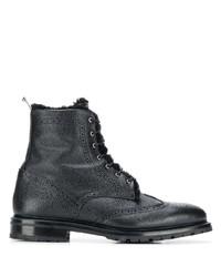 Botas brogue de cuero negras de Thom Browne