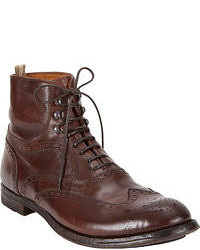 Botas brogue marron oscuro original 6703369