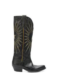 Botas camperas de cuero negras de Golden Goose Deluxe Brand