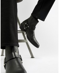 Botas camperas negras de ASOS DESIGN