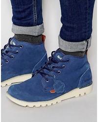 Botas casual de ante azules