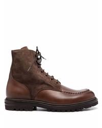 Botas casual de ante en marrón oscuro de Brunello Cucinelli