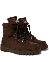 Botas casual de ante en marrón oscuro de Moncler