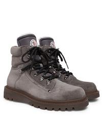 Botas casual de ante grises de Moncler
