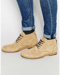 Botas casual de ante marrón claro