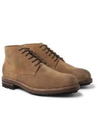 Botas casual de ante marrón claro de Brunello Cucinelli