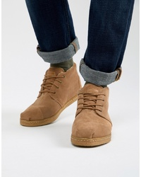 Botas casual de ante marrón claro de Toms