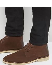 Botas casual de ante marrónes de Asos