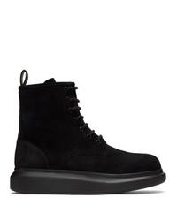 Botas casual de ante negras de Alexander McQueen